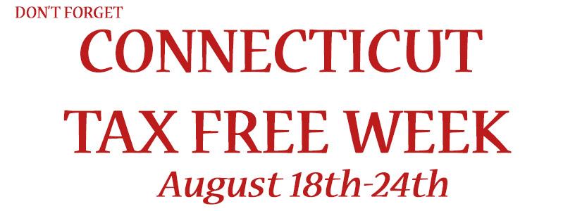Connecticut Tax Free Week 2015