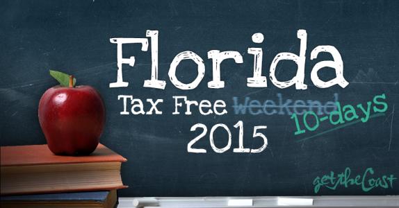 Florida Tax Free Holiday 2015
