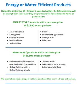 Georgia Tax Free Weekend Energy Star WaterSense 2016
