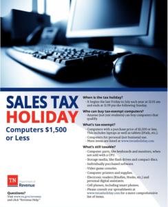 TN Tax Free Weekend Computers