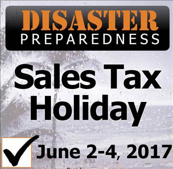Florida Disaster Prep Sales Tax Holiday 2017