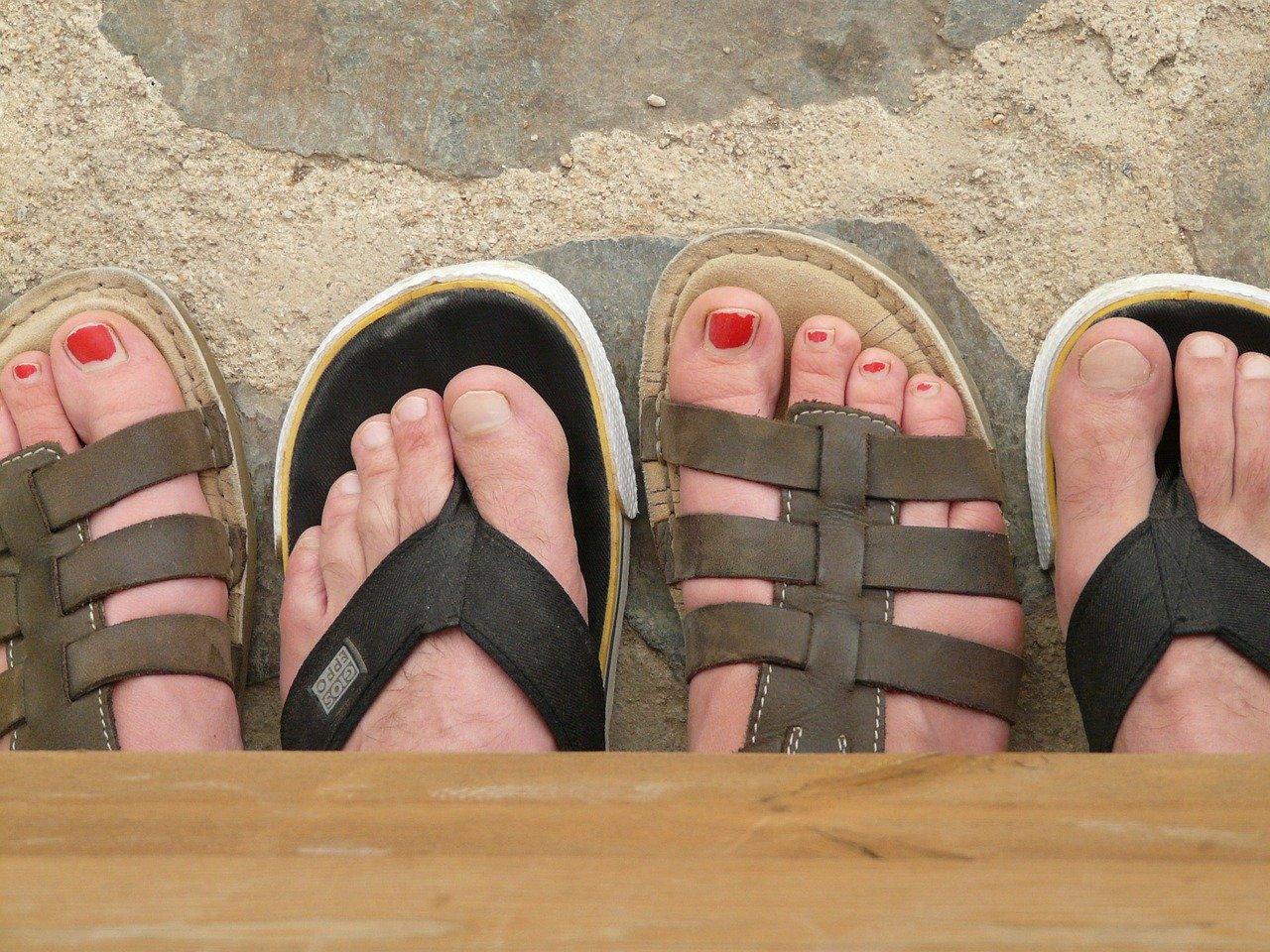 men and women sandals