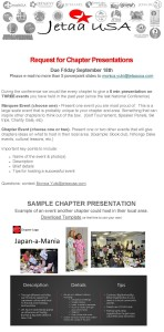 JETAA NatCon Chapter Event Presentation due 9_18