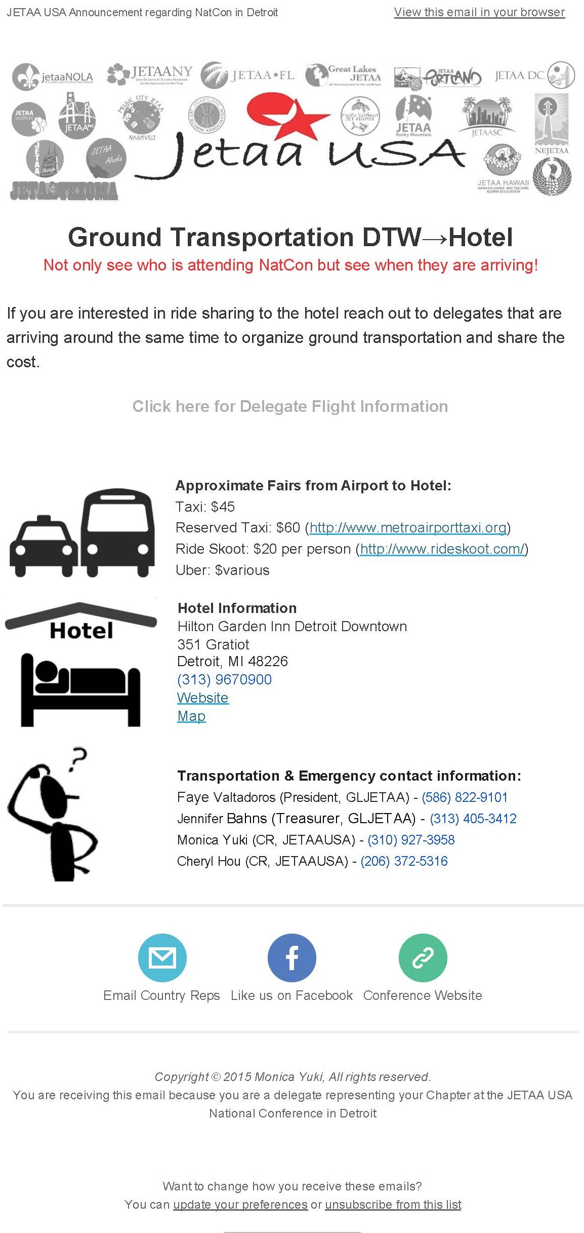 NatCon Ground Transportation Ride Share Coordination