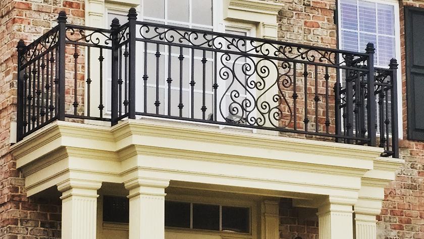 E14 Exterior Iron Balcony Railing