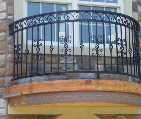 B1 Balcony Faux Radius Custom Design Iron Balcony Railing