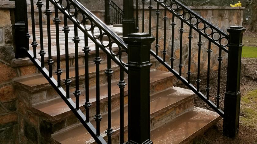 E 52 Rear Steps Exterior Railing