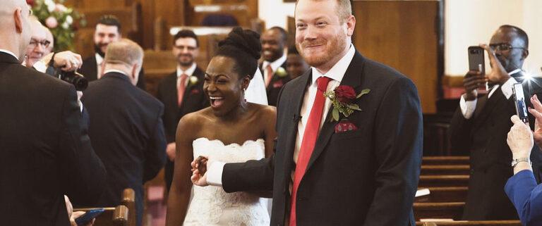 Interracial marriage wedding Gibson centre in Alliston