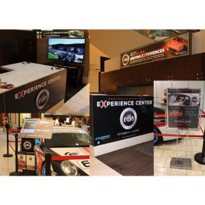 Monticello Motor Club Short Hills Mall kiosk