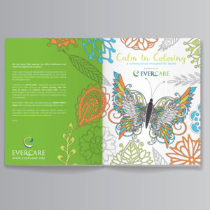 EverCare adult coloring book cover