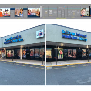 Middletown Medical Monticello store window design