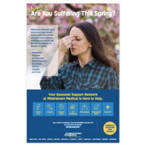 Middletown Medical spring allergies poster