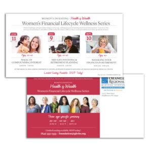 ORMC Foundation - Women's Health seminar postcard