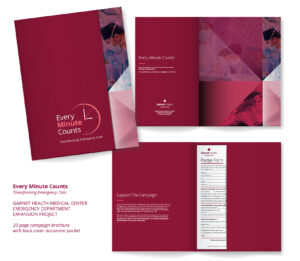Garnet Health Foundation - Every Minute Counts campaign brochure