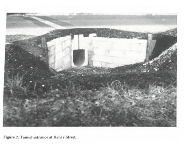 ACO Wildlife Tunnel opening Henry Street, MA