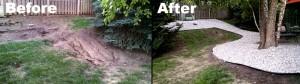 Landscaping design Before & After by Nebraska Yard Care