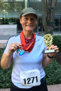 Won for the age group 10K