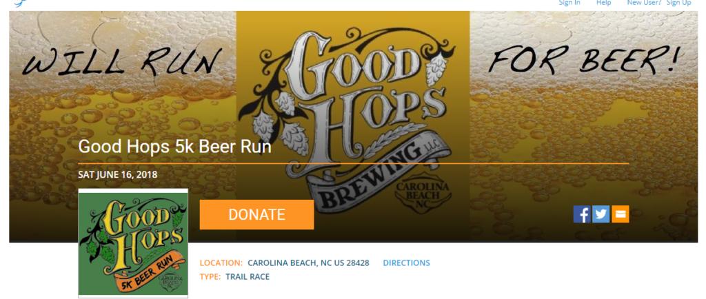 Race Recap of the Good Hops 5K Beer Run 2018