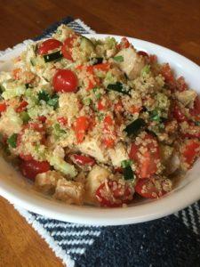 Chicken Quinoa Tomato Salad