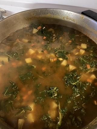 potato and kale soup
