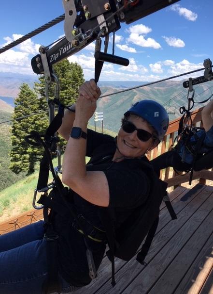 New challenge on the zip line in Utah