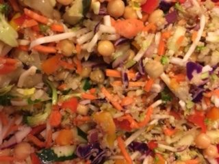 veggie challenge summer lake salad