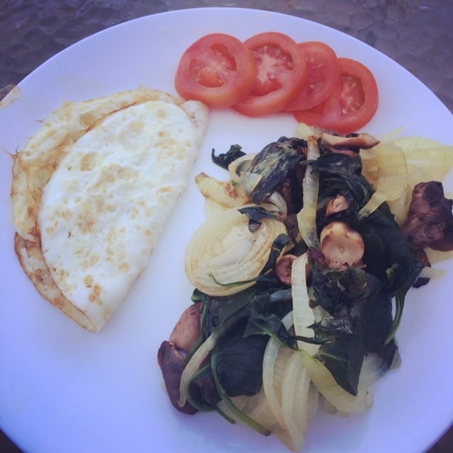 breakfast egg white and veggies