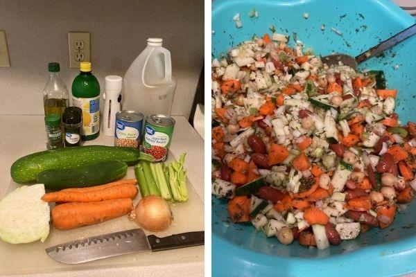 fiber and flavor salad