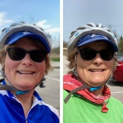 Snapshot of early April bike rides