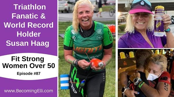 Triathlon Fanatic and World Record Holder Susan Haag - 87 be