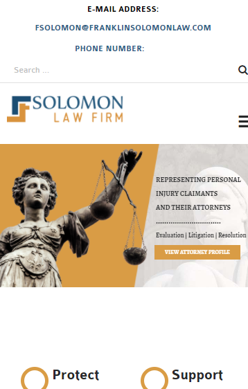 Solomon Law Firm – South Jersey Law Firm Representing Personal Injury Claimants and Their Attorneys