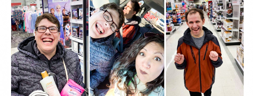 Three go on shopping trip to Target