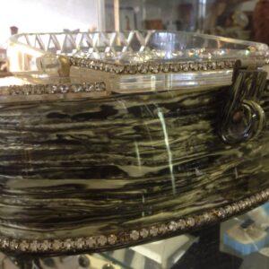 Rare Vintage Lucite purse with Rhinestones by Patricia of Miami.