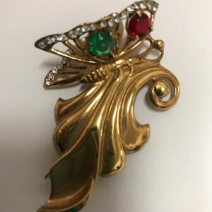 butterfly brooch signed 1940's