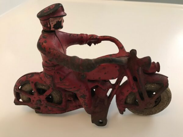 Hubley cast iron toy motorcycle 1930's