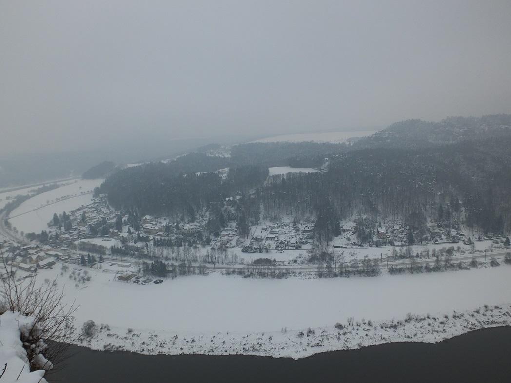 Бастей зимой.