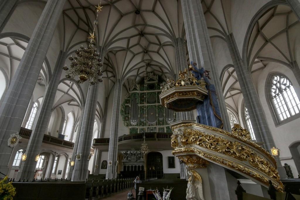 Орган Солнце. Собор Святого Петра в Герлице.