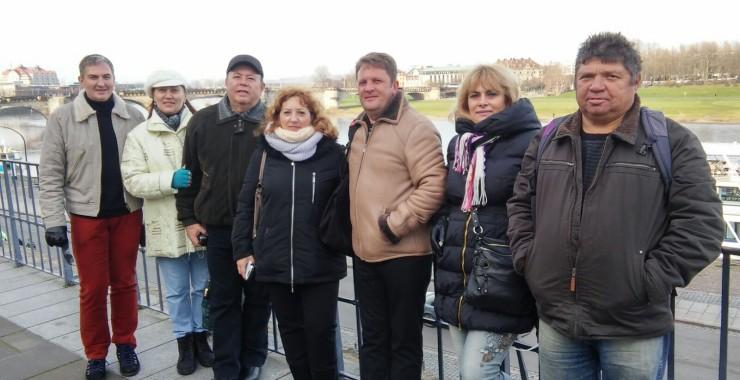 Дина, Ира, Наташа, Юра, Саша и Саша. Германия.