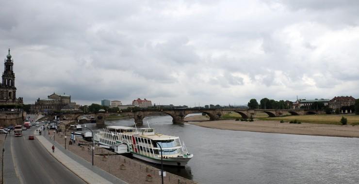 Дрезден. Эльба. Королевский мост.