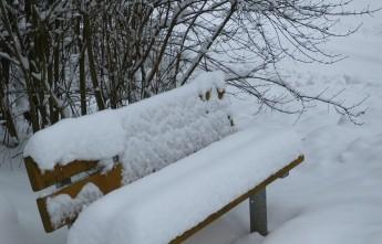 Зимняя скамейка. Саксония. Германия.