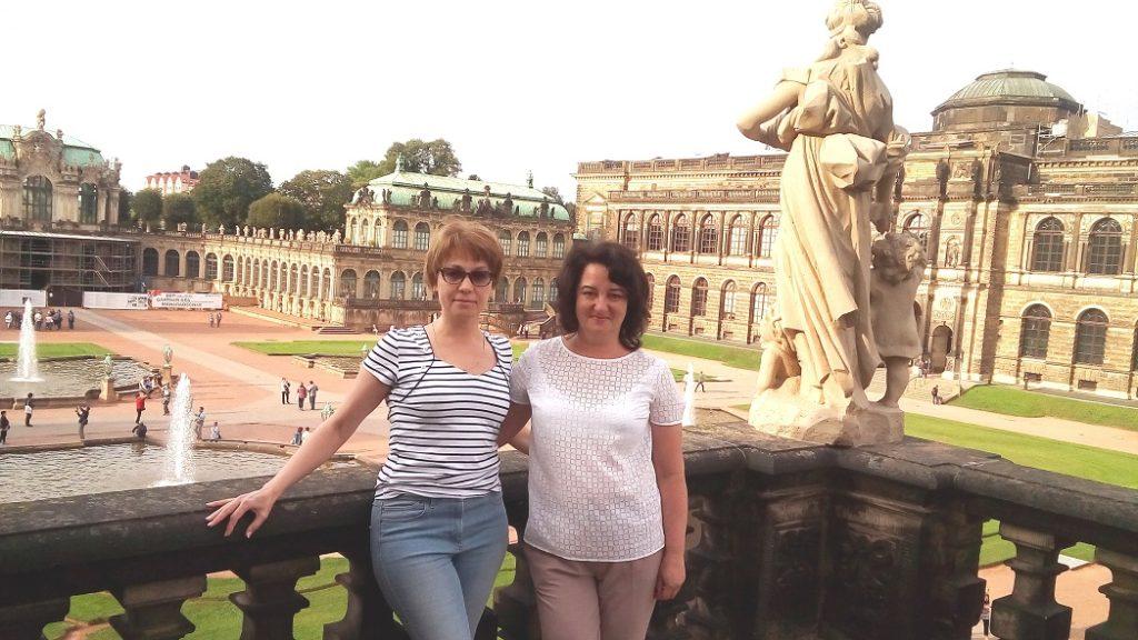 Ольга и Наталия. Цвингер. Дрезден.