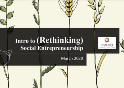 Intro to Rethinking Social Entrepreneurship