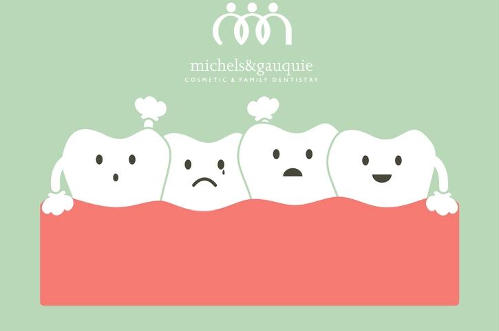 crowded teeth art with logo