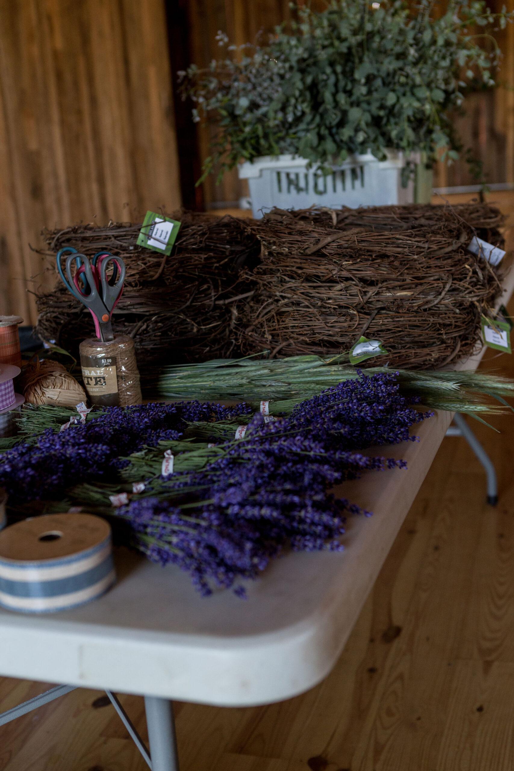 Lavender Wreath Making