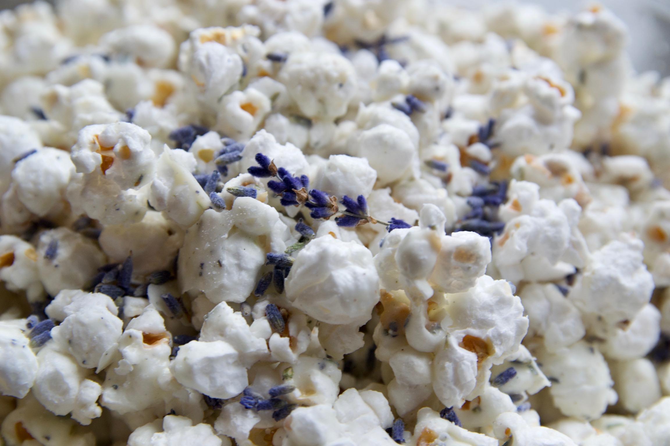 Lavender White Chocolate Popcorn