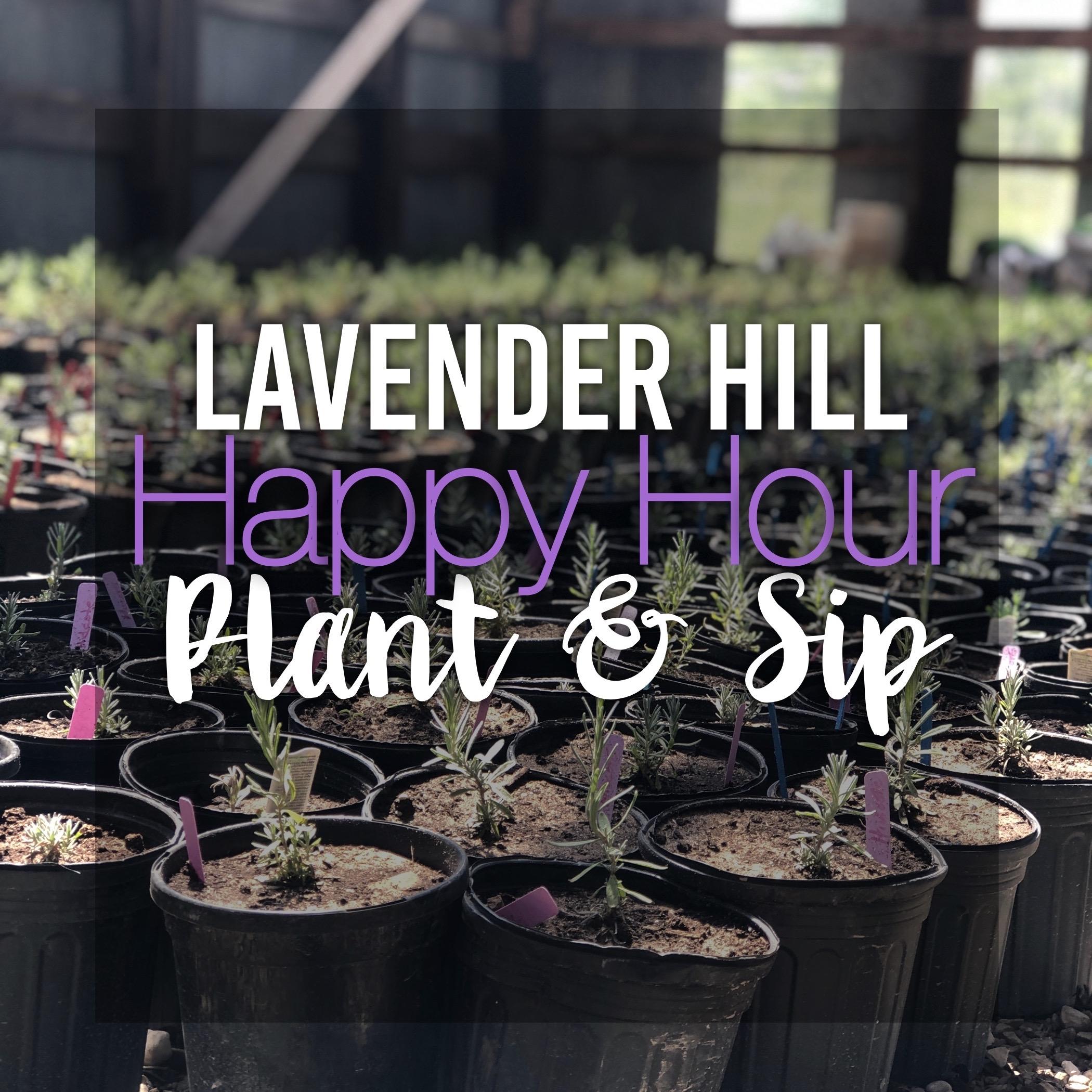 Lavender Hill Happy Hour Plant & Sip Workshop