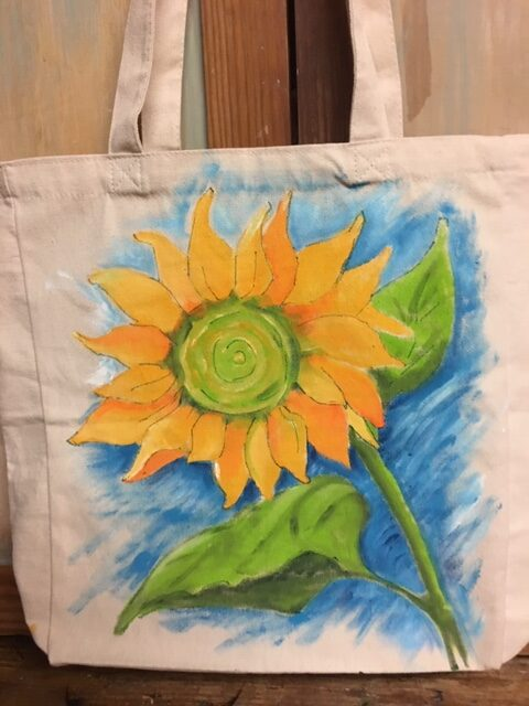 Stunning Sunflowers- Canvas Tote Painting Class