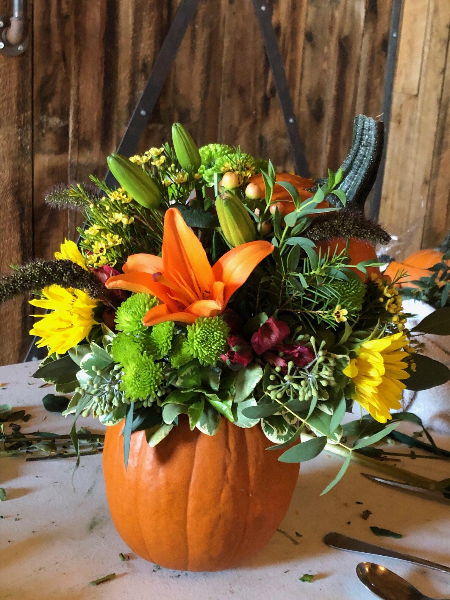 Sunflowers & Pumpkins Fall Floral Design Workshop