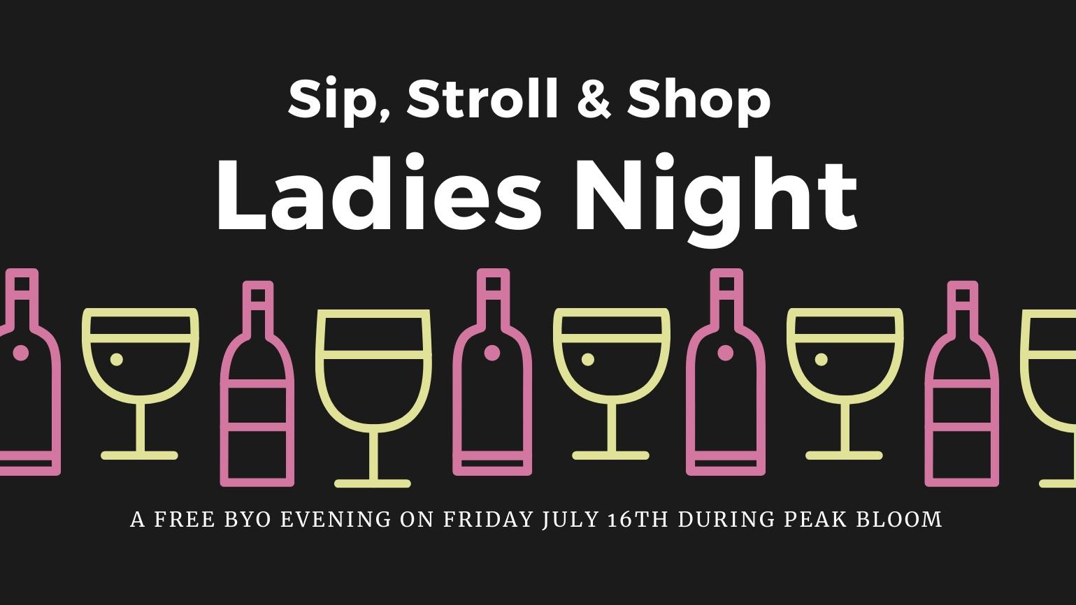 Sip, Stroll, & Shop Ladies Night