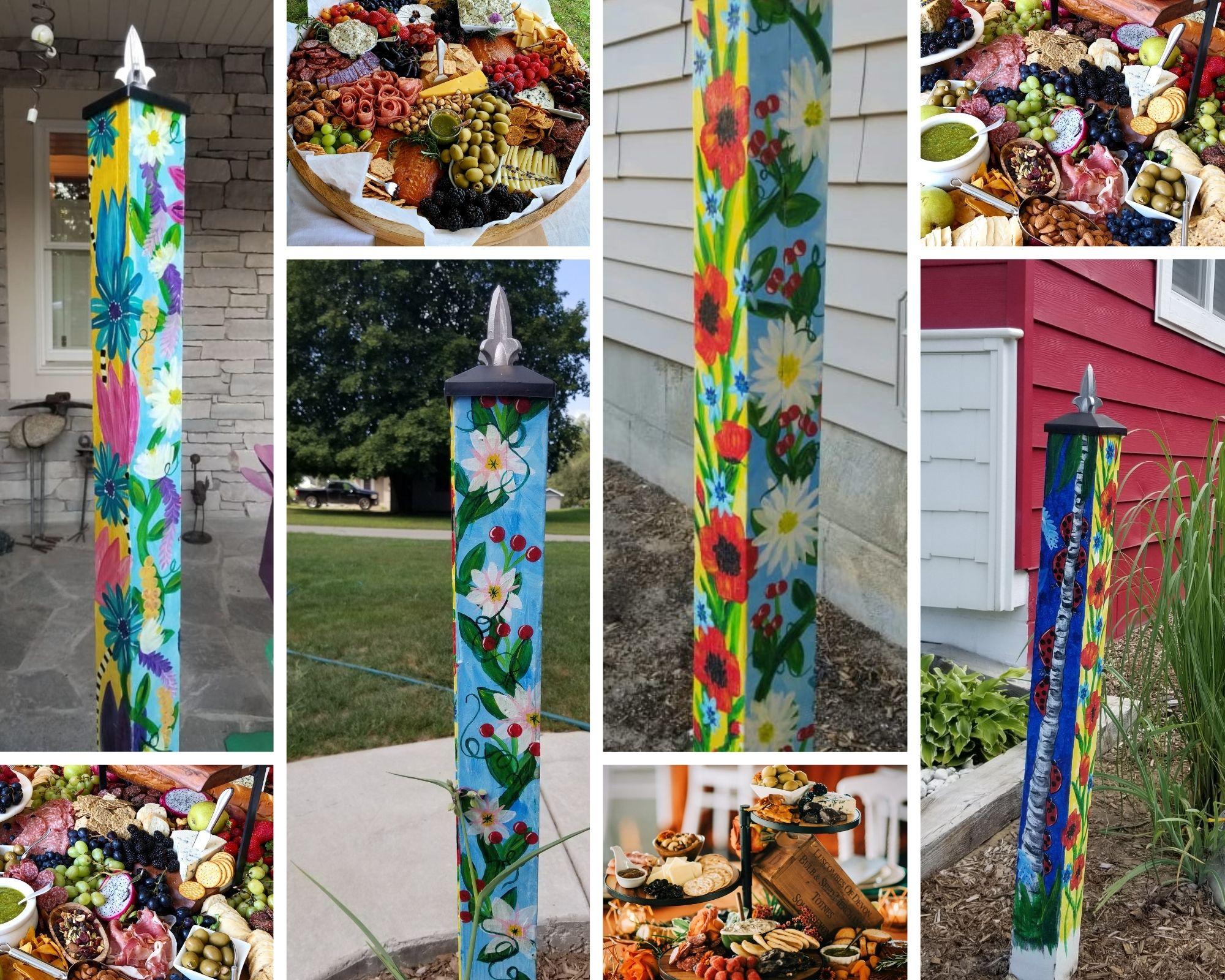 Gaudy Giggles Garden Art Pole Workshop